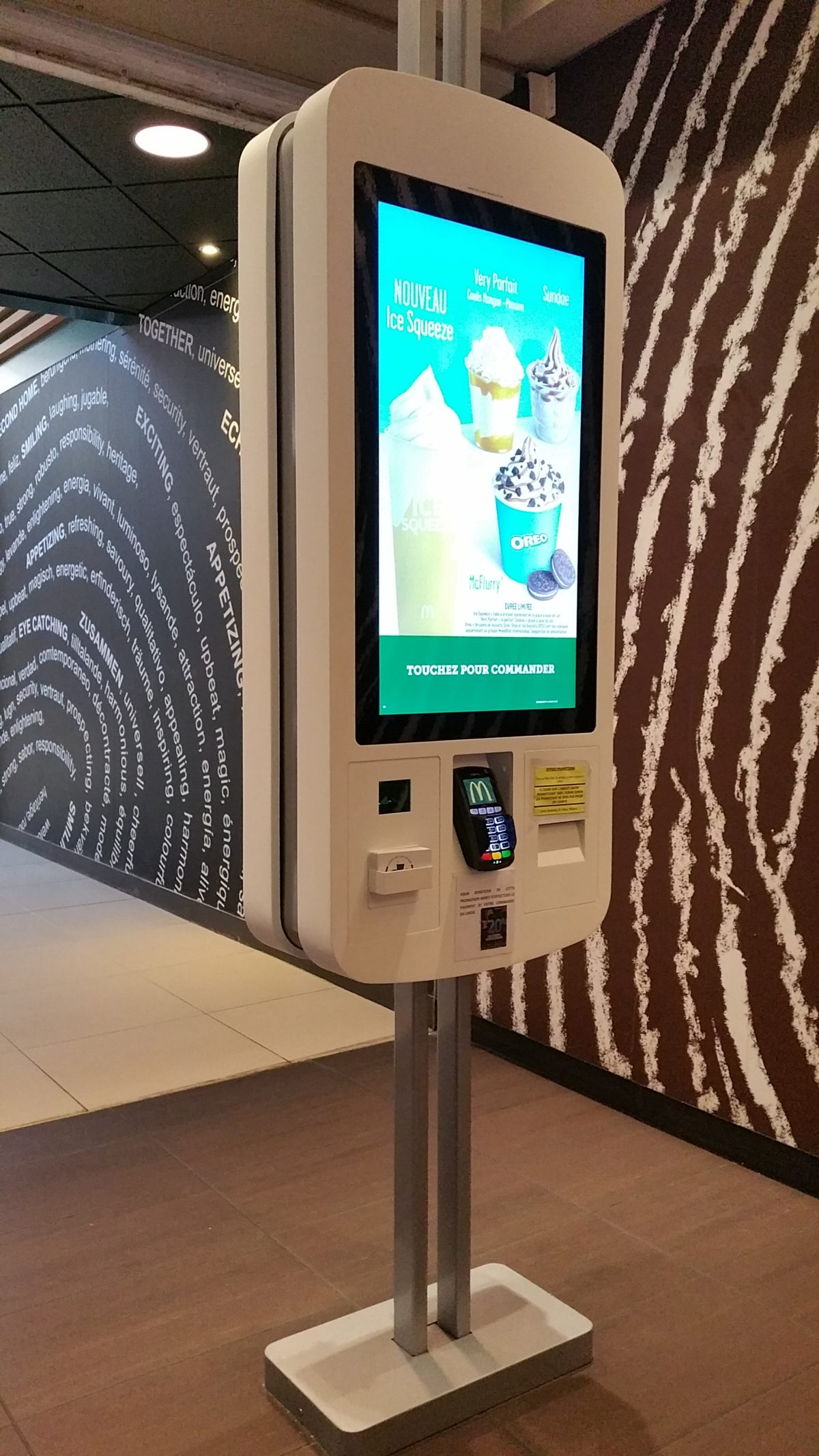 Fabricant borne indoor fooding McDonald's